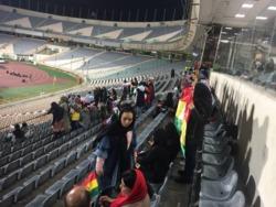 حضور رسمی بانوان در ورزشگاه برای حمایت از تیم ملی