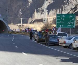 تردد روان خودروها در محورهای هراز و فیروزکوه
