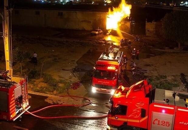 آتشسوزی در کارگاه شارژ سیلندرهای گاز مایع