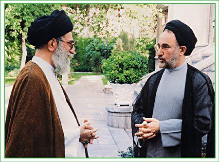 Afbeeldingsresultaat voor محمد خاتمی و خامنه ای