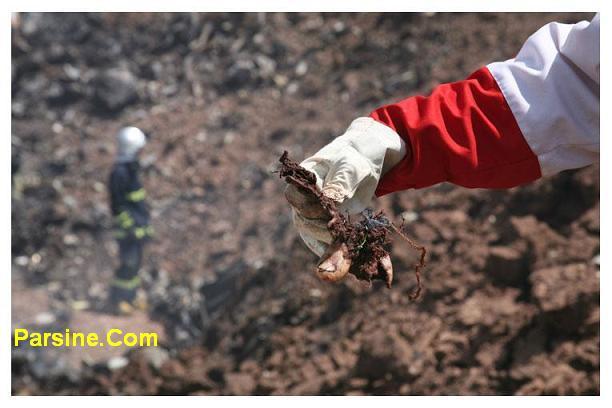 دلار آرام گرفت عکس: باقی مانده جنازه یکی از قربانیان سقوط هواپیمای ...
