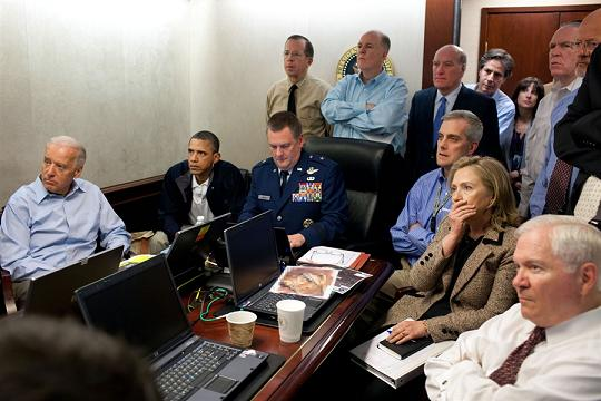 عکس:کاخ سفید قبل از مرگ بن لادن