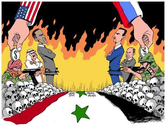 نگاه یک کاریکاتوریست به بحران سوریه