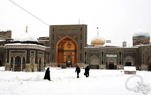 عکس از برف مشهد