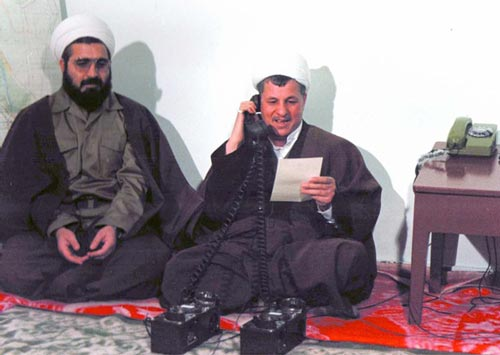 Image result for هاشمی و روحانی در جنگ