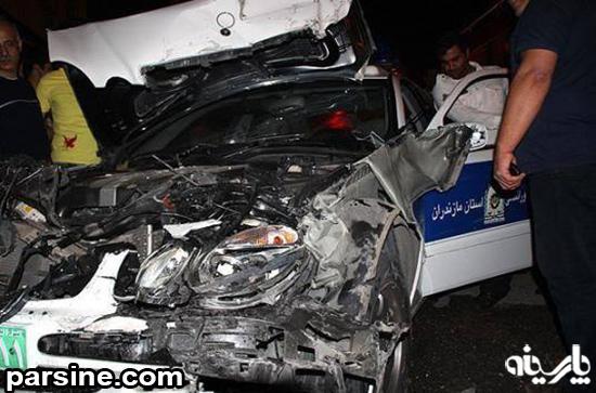 عکس تصادف خانوما
