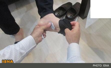 جوراب رنگ پا ایرانی