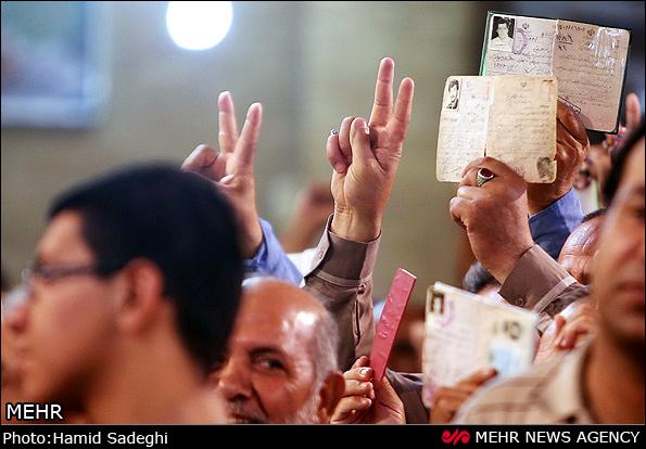 عکس/حضور پر شور  مردم   کرمان  پای صندوق ها