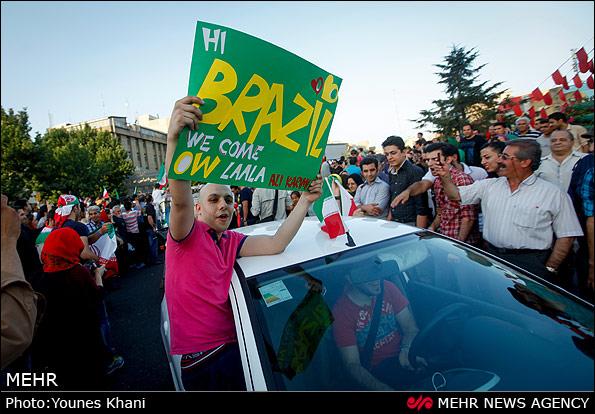 شادی مردم پس از صعود به جام جهانی