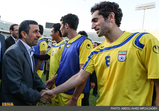 بازیکنان تیم فوتبال ملی حفاری