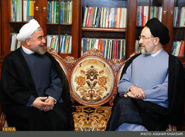 سید محمد خاتمی و حسن روحانی