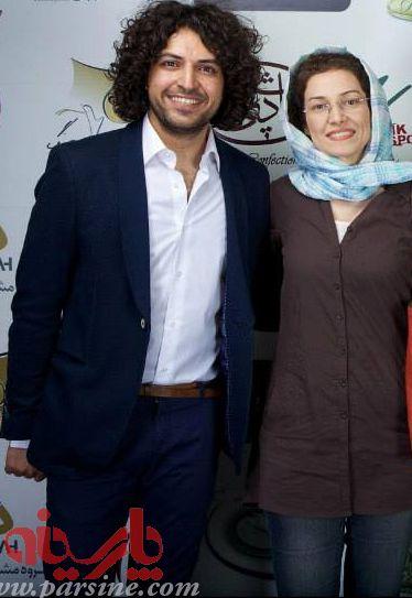 عکس اشکان خطیبی در کنار همسرش