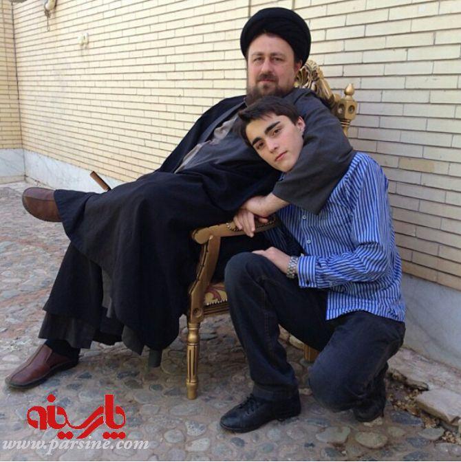 عکس امام خامنه ای با همسرش