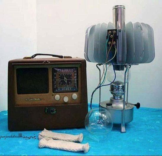 رادیوی لامپی خیلی قدیمی که ازنفت انرژی می گیرد