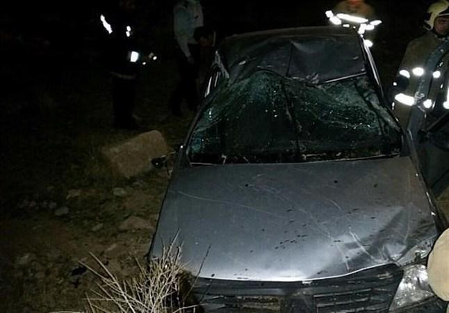 سقوط خودرویی به در ه  در شرق تهران