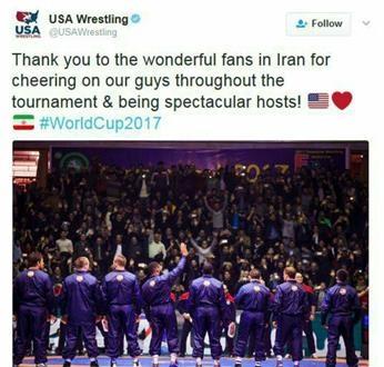 تشکر آمریکاییها از هواداران ایرانی