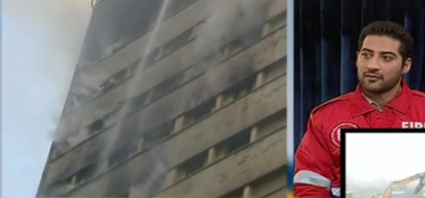 روایت آتشنشان داخل سبد بالابر از حادثه پلاسکو