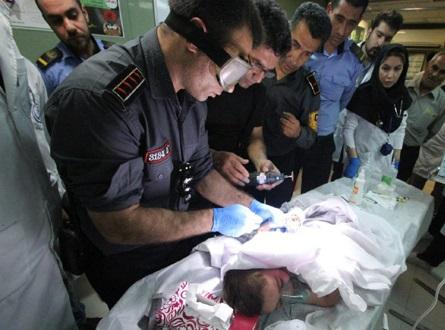 بلعیده شدن دست نوزاد شیرازی در چرخ گوشت