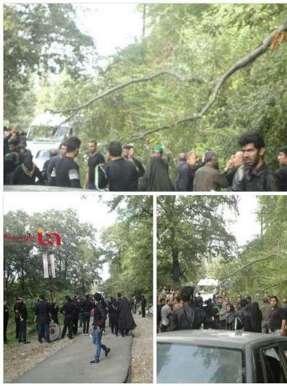 سقوط مرگبار تیر برق بر روی عزاداران در بهشهر+عکس