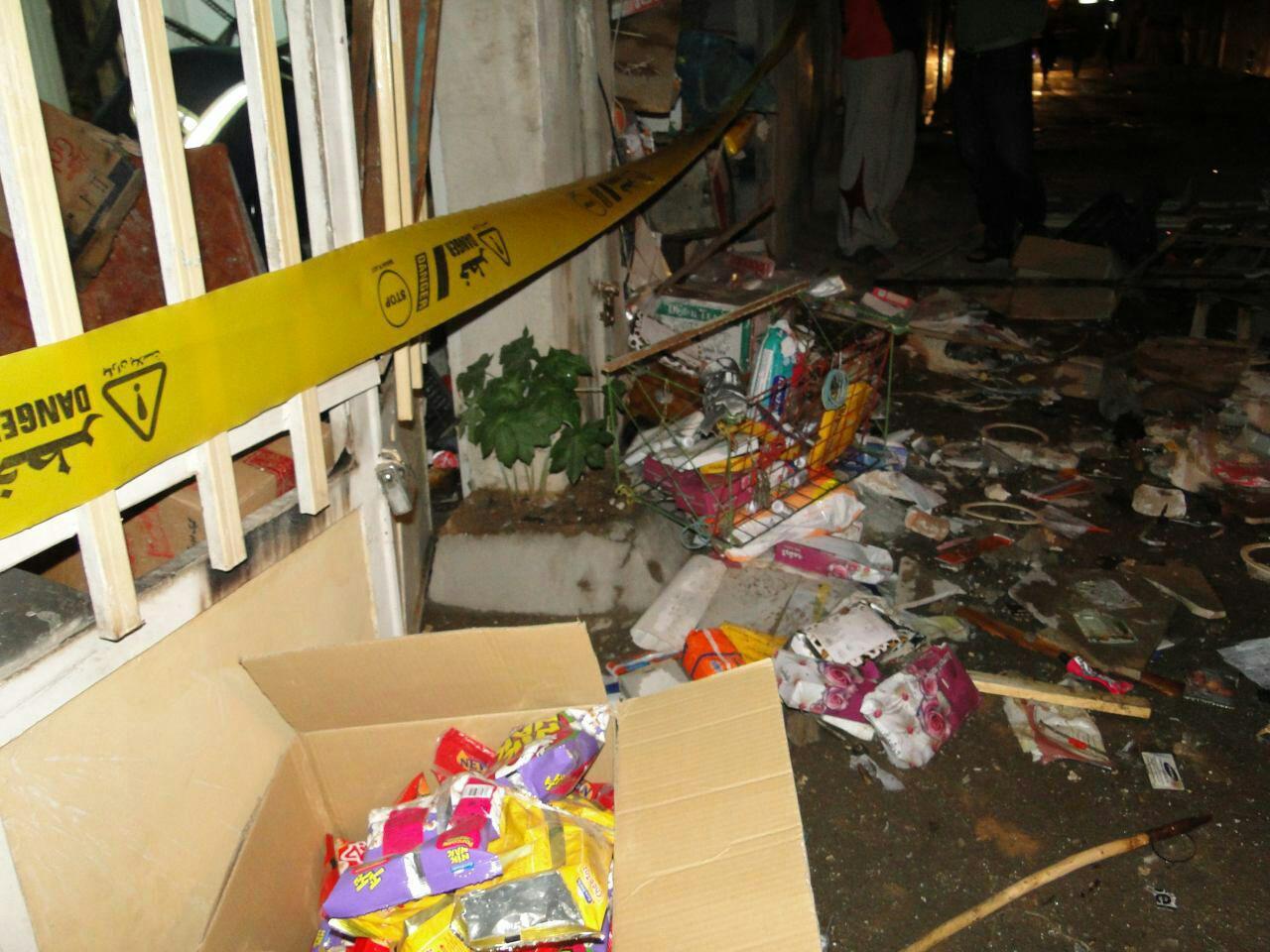 انفجار مغازه و منزل مسکونی در خرم آباد+تصاویر