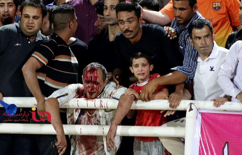 بی اهمیتی اشکهای کودک و فرق شکافته شده در فوتبال ایران!+عکس