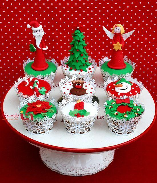 زیباترین کاپکیکهای کریسمسی را اینجا بیابید
