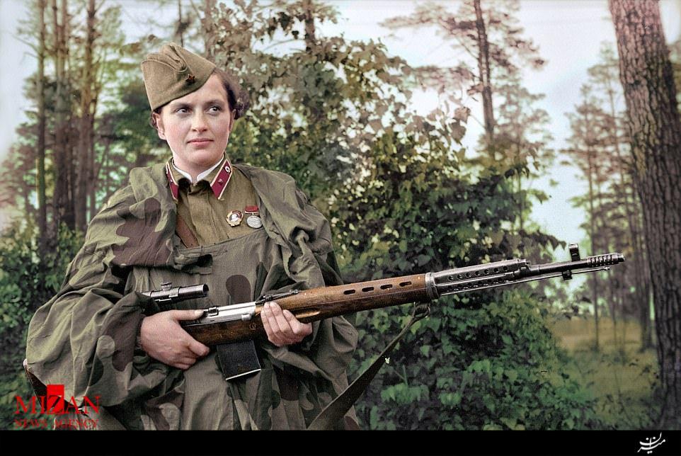 زنی که 309 نفر را در جنگ کُشت +عکس