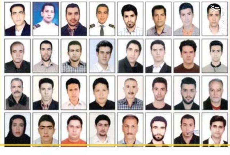 ۳۲ سرنشین و خدمه نفتکش ایرانی+عکس