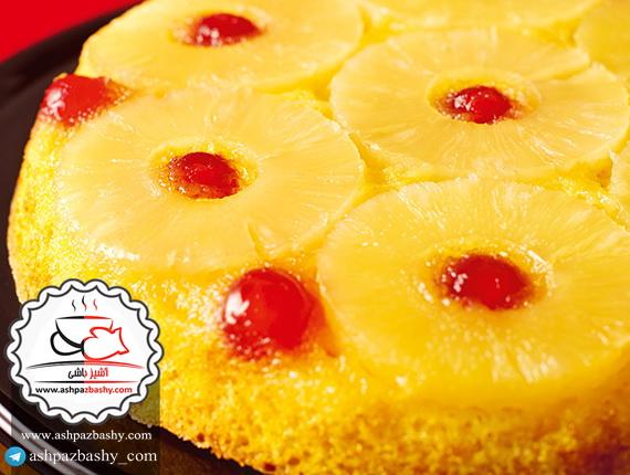 کیک آناناس سر و ته