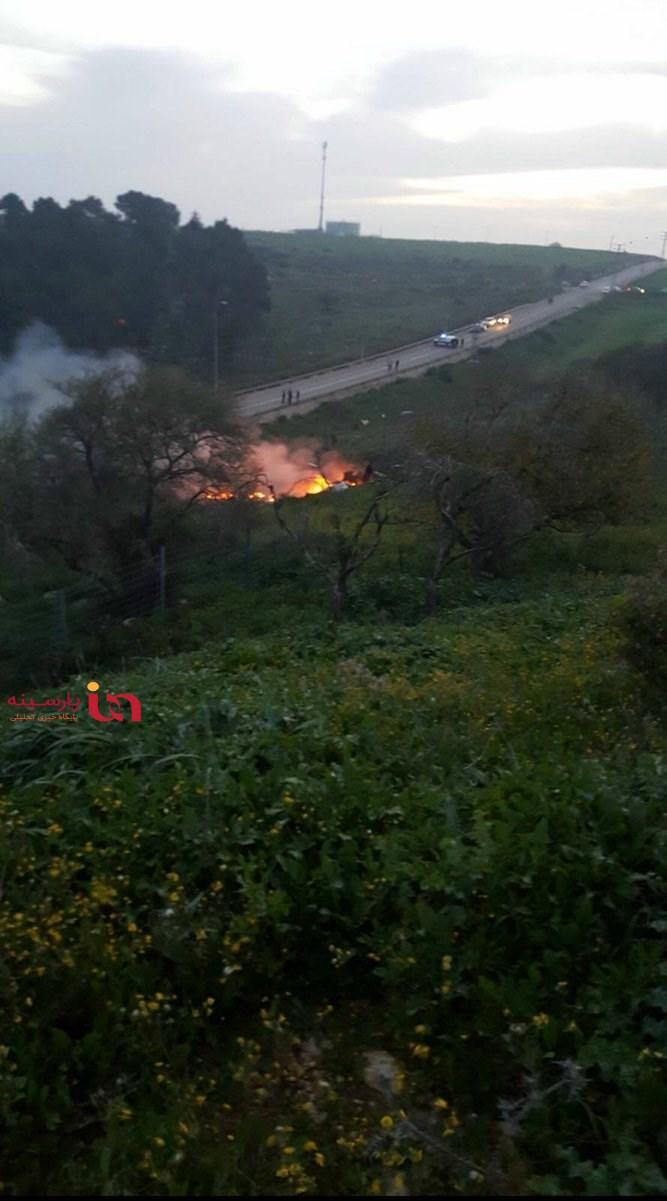 سقوط اف 16 اسرائیل