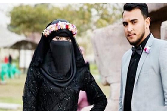 عروس مصری با لباس مشکی +عکس