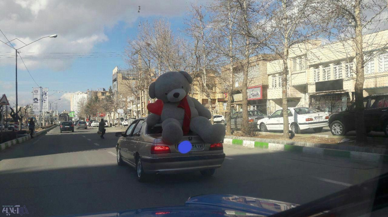 حمل عجیب کادوی روز ولنتاین در ارومیه+عکس