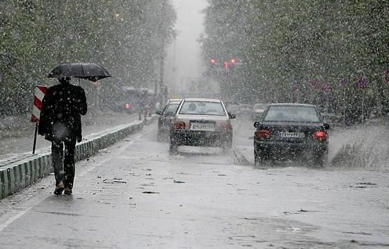 بارش برف و باران در ۱۴ استان