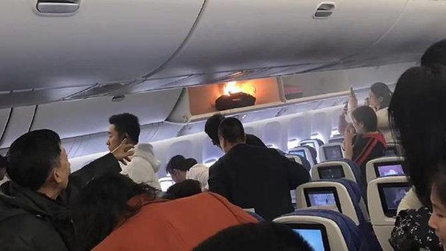 انفجار یک پاوربانک در هواپیمای چینی +عکس