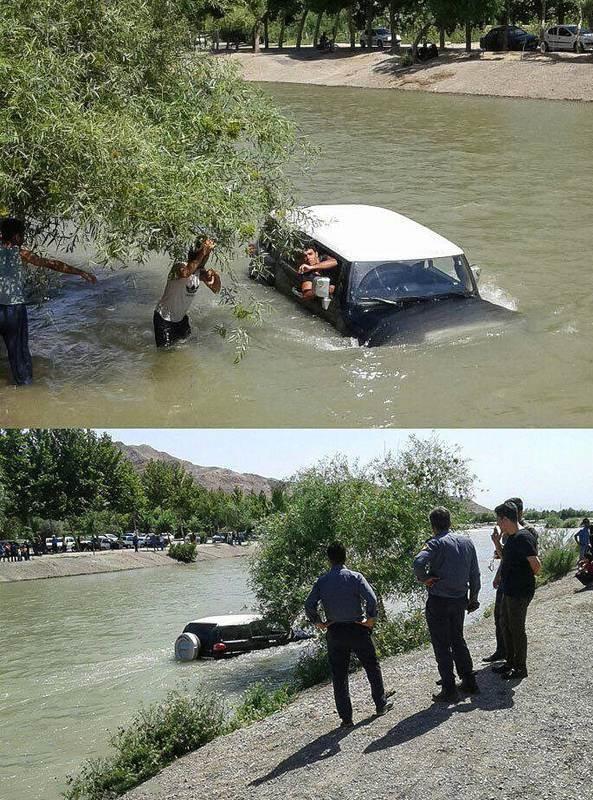 تصادف دیروز اصفهان گرفتار شدن «اف جی کروز» در زایندهرود! +عکس | پارسینه | خبروان