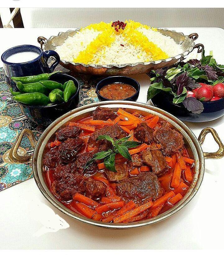 طرز تهیه خورشت هویج تبریزی
