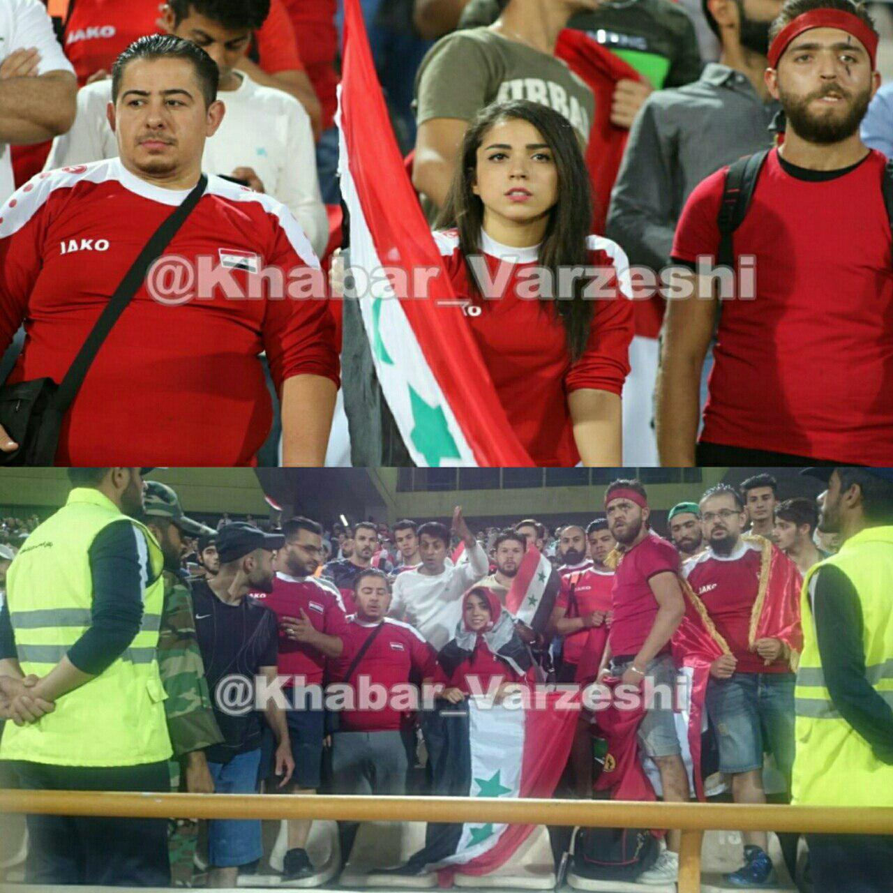 دختر سوری خود را در ورزشگاه با حجاب کرد