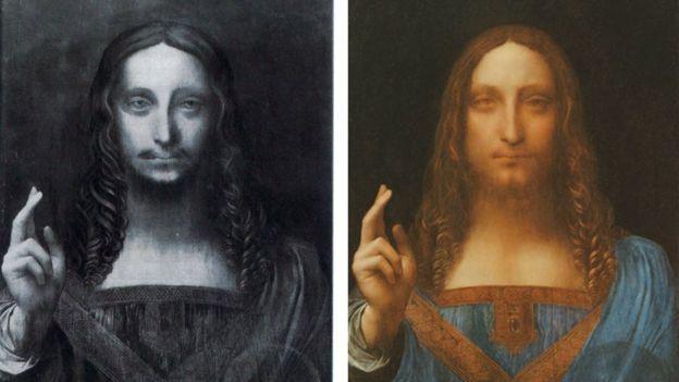 این اثر بعد از تمیز کردن و بازسازی نقاشی سمت چپ ایجاد شده است