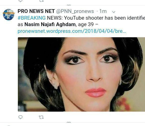 تیراندازی زن ایرانیتبار در مقر یوتیوب + عکس