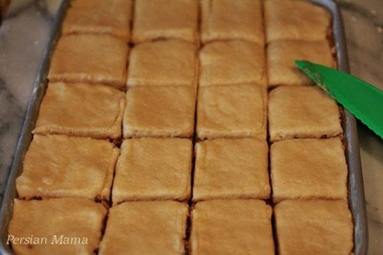 طرز تهیه کیک باقلوا، تصویری و مرحله به مرحله