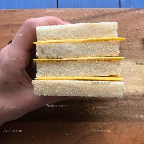 تزیین سالاد الویه به شکل شارلوت مرحله به مرحله