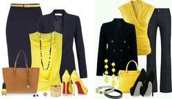 راهنمای ست رنگ زرد لباس