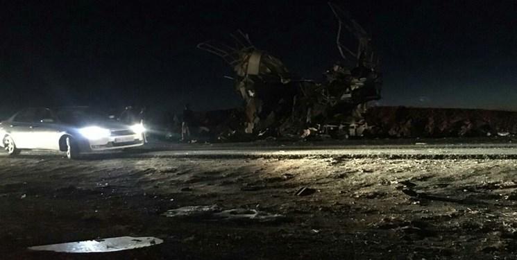 حمله انتحاری  تروریستهای تکفیری به اتوبوس کارکنان سپاه