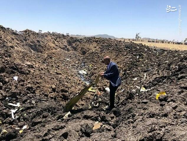 اولین تصویر از محل سقوط هواپیمای مسافری در کنیا