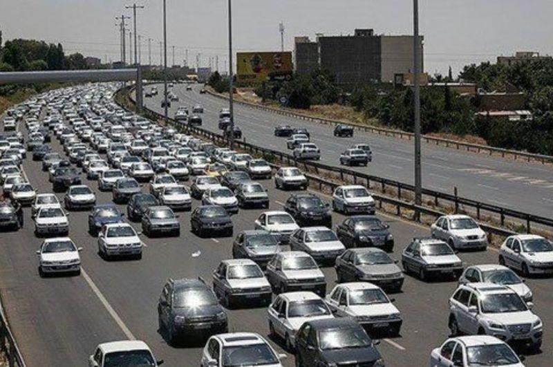 ترافیک نیمه سنگین در آزادراههای کرج