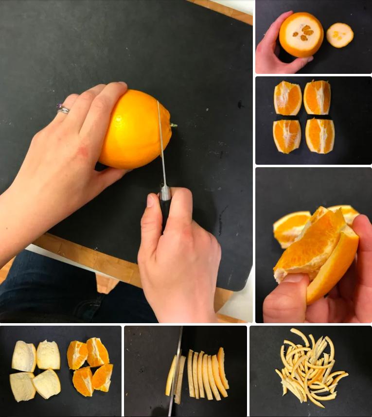 طرز تهیه خوراکی خوشمزه با پوست پرتقال