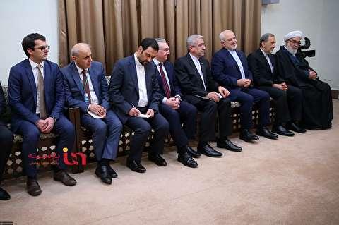 حضور ظریف پس از ماجرای استعفا در محضر رهبر انقلاب
