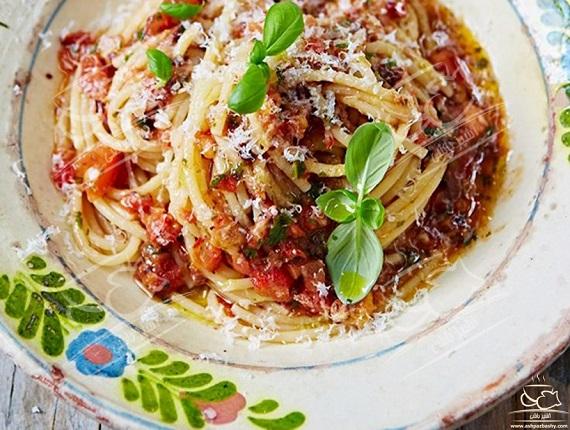 اسپاگتی سالسا یک غذای خوشمزه برای بچه ها
