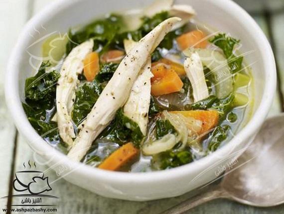 سوپ مرغ و سبزیجات، پیش غذای آسان و انرژی زا