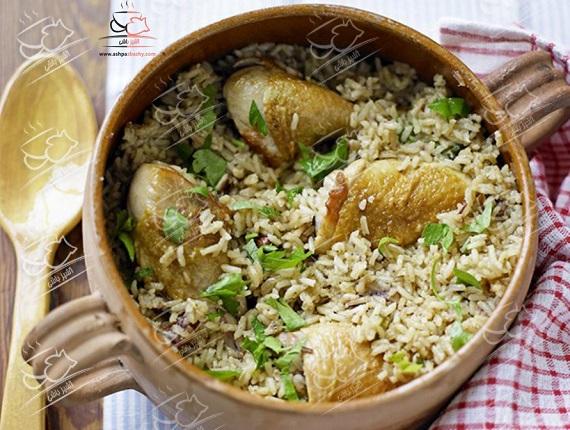مرغ و برنج شیرین غذایی با طعم متفاوت